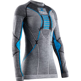 X-Bionic Apani 4.0 Koszulka merino z długim rękawem Kobiety, black/grey/turquoise